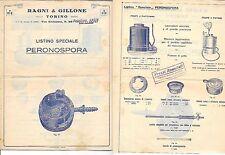 RAGNI GILLONE 1932 PERONOSPORA ACCESSORI IRRORATORE VERDERAME SOLFORATRICE