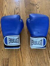 Everlast Blue Pro Style Boxing Training Gloves 12 oz