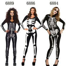 Sexy Skeleton Skull Halloween Zombies Cosplay Party Fancy Dress Catsuit Jumpsuit