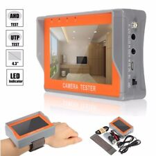 """4.3"""" 12V TFT LCD Audio Video Security Tester CCTV Camera AHD UTP Test Monitor"""