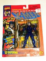 1993 MARVEL UNCANNY X-MEN 5TH EDITION WOLVERINE ACTION FIGURE TOY BIZ BLUE!