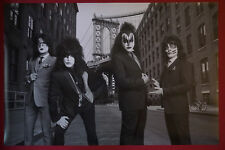 Kiss Rock Band Suit Gene Simmons Paul Stanley Peter Criss Ace Poster  23X36 NEW