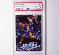 1997 Fleer Ultra Kobe Bryant #1 LA Lakers NM PSA 8 🔥HOF Basketball Card