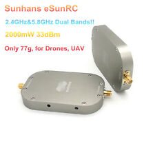 Sunhans eSunRC 2W 33dBm Dual Band 2.4G&5.8GHz UAV WiFi Signal Booster Amplifier