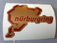 STICKER NURBURGRING CIRCUIT MOTO TUNING CASQUE SCOOTER QUAD VELO OR/ROUGE GP