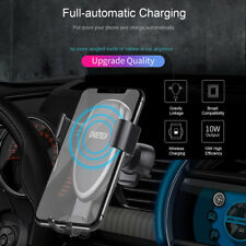 QI Fast Wireless Car Charger Stand Dock Pad For iPhone XR XS MAX Note9 Galaxy S9