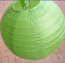 6x 20cm green paper lanterns engagement wedding birthday party home decoration