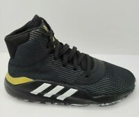 Adidas Pro Bounce 2019 Mens Black Basketball Sneakers Shoes F97282 Size 9.5