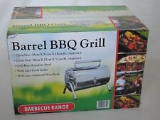 Portable Stainless Steel Barrel BBQ Grill