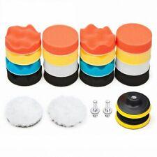 Car Foam Drill Polishing Pad Kit 22 PCS, 3 Inch Buffing Pads Y2B3