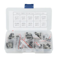 10 Types 200pcs Npn Pnp Power Transistor Kit & Box 2n3904 2n3906 S8050 S8550 AU
