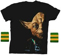 Adult Step Brothers Dale Star Wars Yoda Return of the Jedi Shirt & Wristband Set