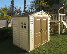 DuraMax 8' x 5.26' Woodside StoreAll Vinyl Shed w/ Foundation Kit (30115)