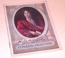 Programme COMEDIE FRANCAISE 1934 - Le Malade Imaginaire - La Double Inconstance