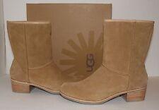 New UGG Australia Cyrinda Women's Chestnut Suede Pull-on Boots NIB sz US 6/EU 37