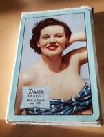 Dacca Fabrics Manchester England Vintage Playing Cards Bathing Beauty Orig Box
