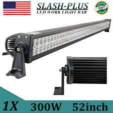 """52INCH 300W LED Work Light Bar Flood Spot Offroad SUV Tractor 4WD Boat VS 42/50"""""""