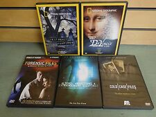 Lot of 5 DVDs COLD CASE & FORENSIC Files Alien Abductions NAT GEO + (DH991)