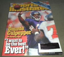 Sports Illustrated issue w/ Daunte Culpepper cover ~  December 4, 2000