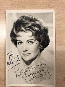 Personally signed photo of Margaret Lockwood - 9cm X 14cm