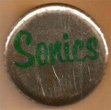 "Seattle Supersonics ""Sonics"" NBA Team Basketball Button Pin"
