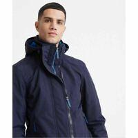 Superdry Mens Tech Pop Windcheater Zip Up Jacket Coat  Downhill Navy