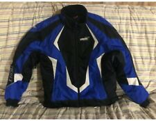 Castle X Snowmobile Jacket Black/White/Blue Size XL AND Castle X Pants L Men's