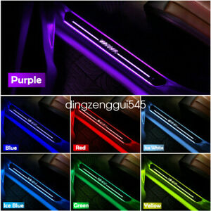 4Pcs Front Rear Car Door Wireless Multiple Color LED Welcome Pedal lights US