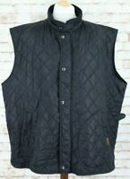 RALPH LAUREN Polo Black Quilted Waistcoat Gilet Size 4XB Big