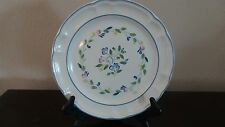 Mexican Hand Decorated Stoneware Floral Expressions Dinner Plate
