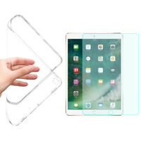 """GEL CASE & TEMPERED GLASS LCD FILM SCREEN PROTECTOR FOR APPLE IPAD Pro 9.7"""""""