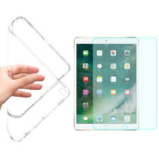 GEL SKIN CASE COVER+TEMPERED GLASS FILM SCREEN PROTECTOR FOR APPLE IPAD AIR 1,2