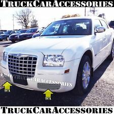 For CHRYSLER 300 2005-2010 Polished Fog Lights Bumper Grille 2PC REPLACEMENTS