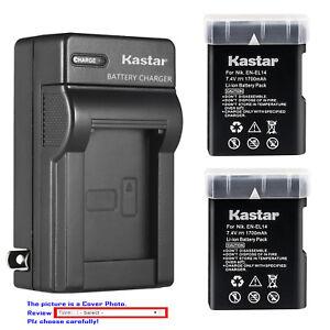 Kastar Battery Wall Charger for Nikon EN-EL14 MH-24 & Nikon D3100 DSLR Camera