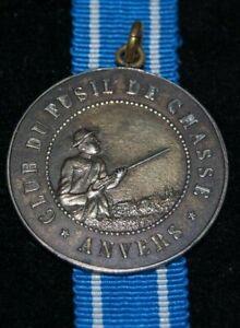 Belgium Medal Anvers 1925 Club Du Fusil De Chasse, D.28,5mm, an Öse, RARE