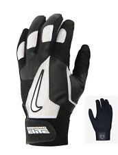 New NIKE Diamond Elite Pro Adult Men's Batting Gloves Size:Small - Black/White