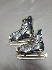 Vintage Leather Canadian Daoust Hockey Skates Yth Size 10 Htf Used