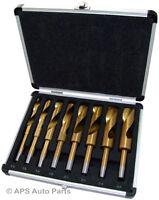 8 Piece HSS Titanium Drill Set High Speed Steel Twist Drill Bit Set 14mm-25mm
