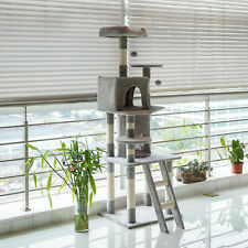 New listing Kitten Cat Tree Tower with Ladder Pet Play House Toy Bed Scratching Posts Condo