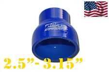 """Silicone Straight Reducer Coupler Hose 64mm - 80mm / 2.5"""" - 3.15"""" (4-ply) Blue"""