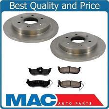 (2) Rear Disc Brake Rotor W Ceramic Pads Fits For 04-10 QX56 04-15 Titan
