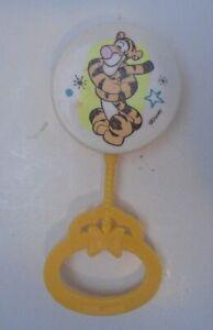 Vintage Tigger Rattle Hard Plastic Walt Disney