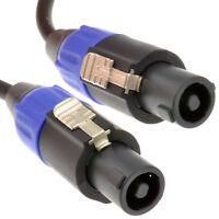 3m PA System Speaker Lead Speak 2 x1.5mm Cable Locking Ends On 10ft [005883]