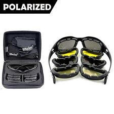 Army Sunglasses 4 Lens Kit Military Goggles Polarized Daisy War Game C5 Men