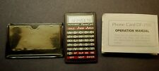 Seiko Instruments Electronic Phone Card / Calculator, Model Df-210, Japan w/ Cas