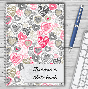 A5 & A4 PERSONALISED NOTEBOOKS, NOTE BOOK, PAD, 50 LINED OR BLANK, GIFT BOOK 37