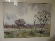 Bucolic Watercolor Landscape By Listed English Artist, William Benner