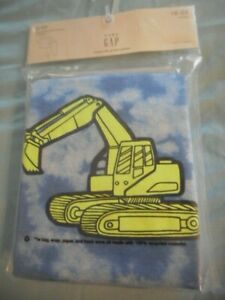 BABY GAP NWT Toddler Boy 18 24 months 2-piece blue bulldozer LS pajama set