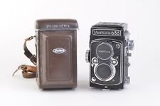 EXCELLENT+++ YASHICA 635 TLR CAMERA w/80mm F3.5 LENS, CASE, CAP, TESTED, NICE!!