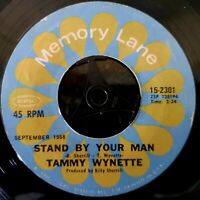 """Tammy Wynette - Stand By Your Man / He Loves Me All The Way - 7"""""""